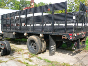 1054, 20ft used flatbed with sides