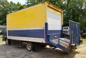 1014, 16 ft used landscape truckbody with dovetail