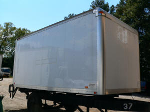 1079, 16ft used truckbody with gate