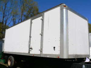 1087, Used Morgan 24 ft truck box with gate