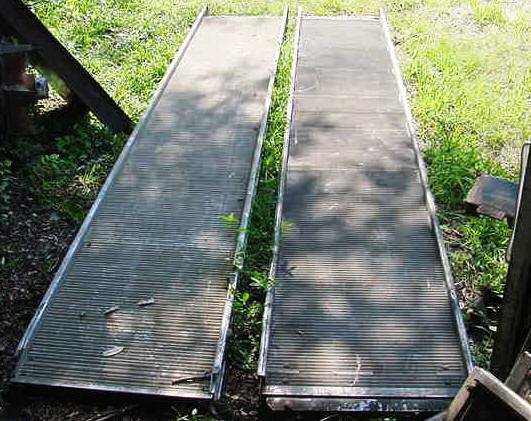 used pullout walkramp