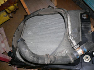 951, 2008 International CF500 radiator assembly