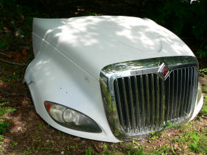 H213, International Prostar used hood with grill